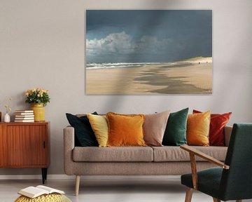 Landscape 'dreiging aan zee' van Greetje van Son
