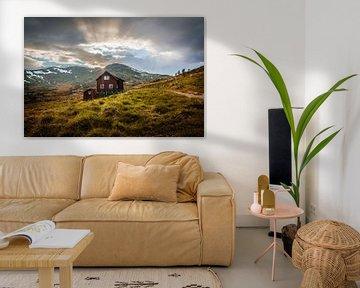 Huis in de bergen van Jacco Bezuijen