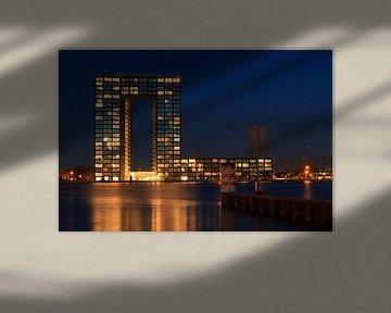 Tasman toren bij nacht van Sander van der Werf