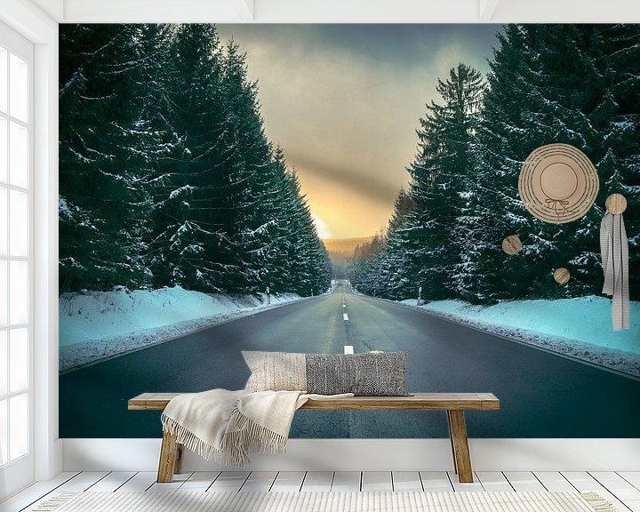 Sfeerimpressie behang: Winterroad van manuelmendoza.de