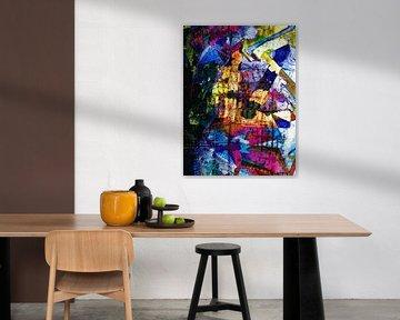 Modernes, abstraktes digitales Kunstwerk - Träume voller Farbe Teil 1 von Art By Dominic