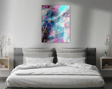Modernes, abstraktes digitales Kunstwerk - den Schatten bis zum Ende nachjagen (rechts) von Art By Dominic