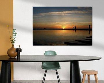 Zonsondergang bekijken van Klaas Heiligenberg