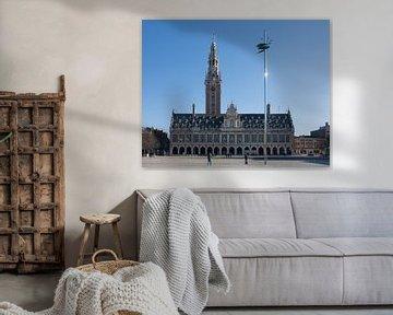 Ladeuzeplein Leuven met universiteitsbibliotheek van Manuel Declerck