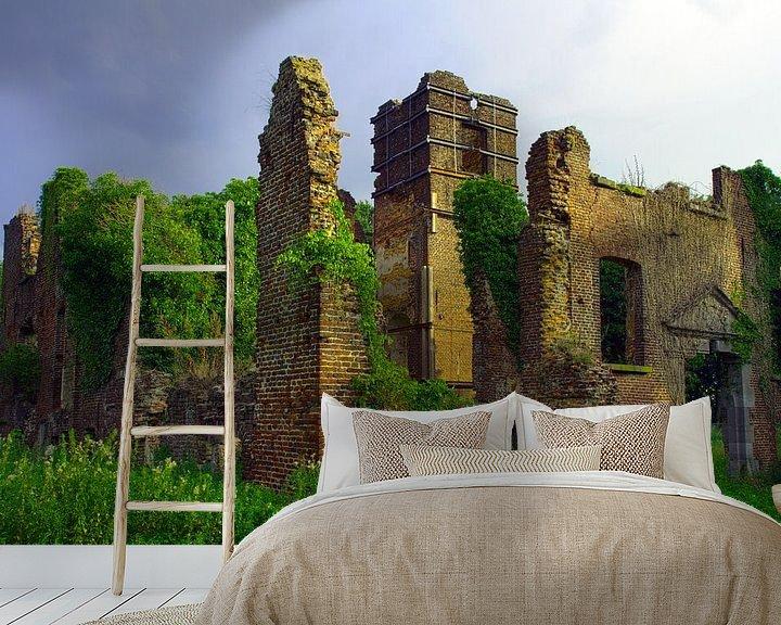 Sfeerimpressie behang: Kasteel Bleijenbeek van Above The Grid