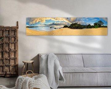 Tropisch strand 360 panorama van Dennis van de Water