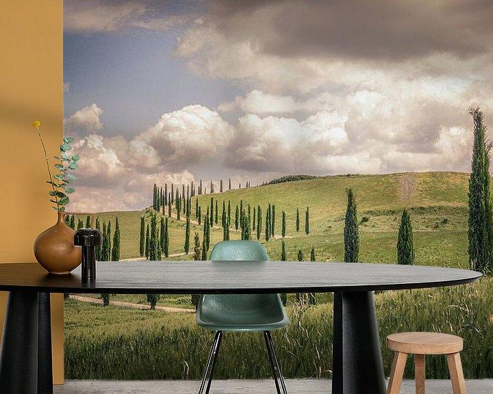Sfeerimpressie behang: Toscane van Dennis Van Donzel