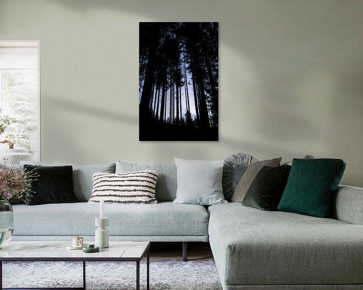 Sfeerimpressie: Hoge bomen in de Vogezen van Jeanine Verbraak