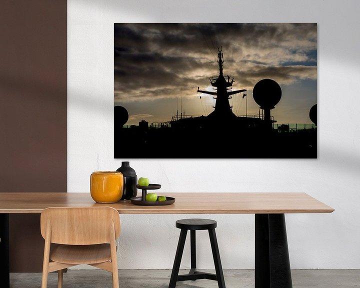 Sfeerimpressie: Navigator of the Seas bij zonsondergang van Gertjan koster