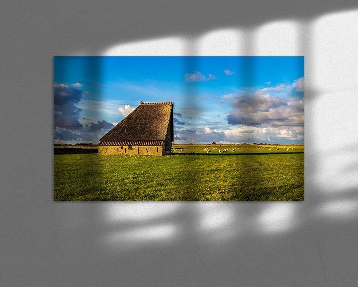 Sfeerimpressie: Schapenboet met schapen-  landschap Texel  van Texel360Fotografie Richard Heerschap
