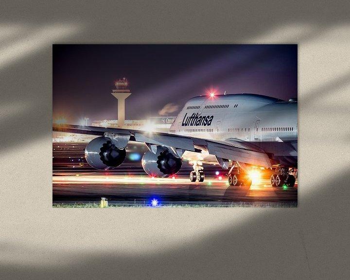 Sfeerimpressie: Lufthansa Boeing 747 klaar voor vertrek van Dennis Janssen