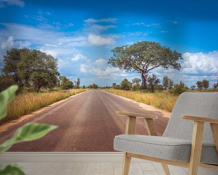 Sfeerimpressie behang: road in the kruger national park in south africa van Compuinfoto .