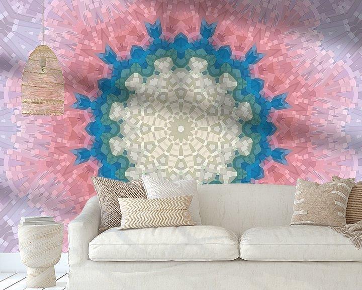 Sfeerimpressie behang: Mandala-stijl 12 van Marion Tenbergen