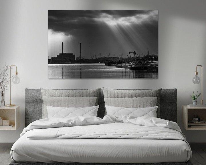 Sfeerimpressie: Maashaven Rotterdam van Ilya Korzelius