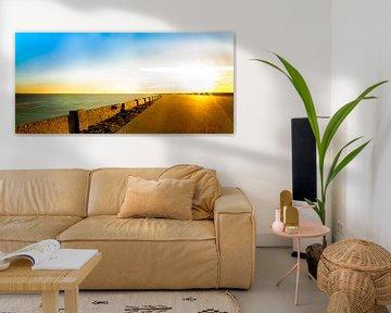 Zonsondergang Stompetoren van Andrea de Vries