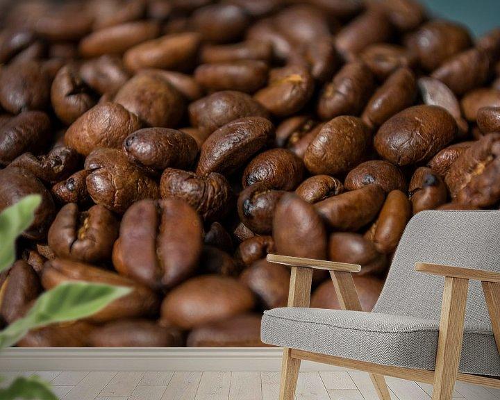 Sfeerimpressie behang: koffiebonen van Onno van Kuik