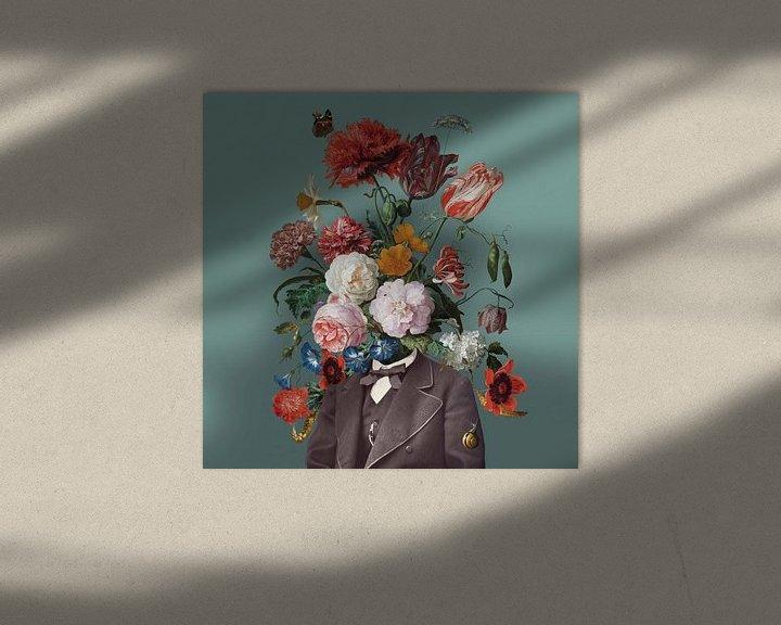 Beispiel: Selbstbildnis mit Blumen 3 von toon joosen