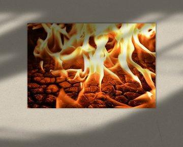 Vuur, brand, kolen, openhaard