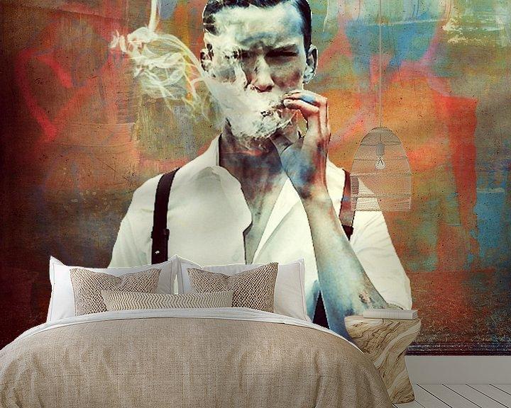Beispiel fototapete: Smoking  von Marja van den Hurk