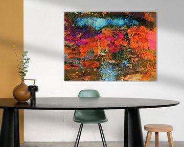 Modernes, abstraktes digitales Kunstwerk - Falling In And Out von Art By Dominic