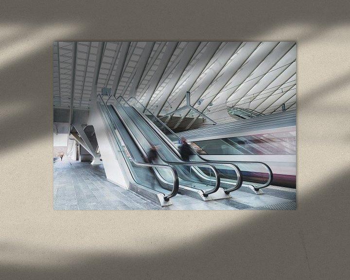 Sfeerimpressie: Station Luik van Wim van D