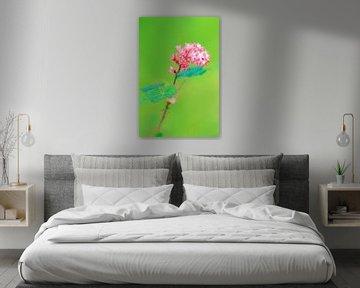 Plant met roze bloemetjes van Dennis van de Water