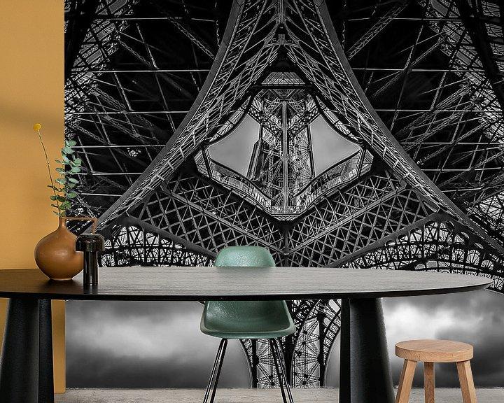 Sfeerimpressie behang: Onder de Eiffeltoren van Robbert Ladan
