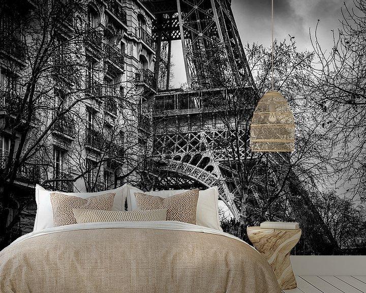 Sfeerimpressie behang: Eiffeltoren van Robbert Ladan