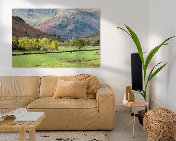 Sfeerimpressie: Mooie vallei in de Lake District, Engeland van Jos Pannekoek