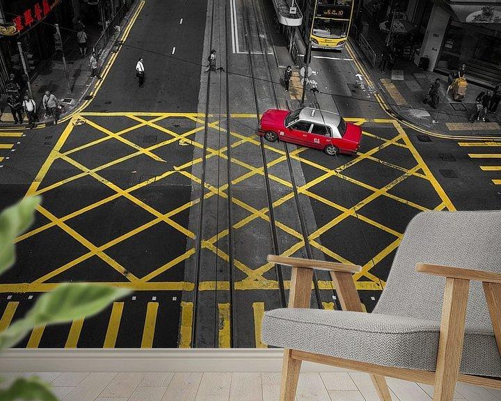Sfeerimpressie behang: Hong Kong kruispunt van Yannick Karnas