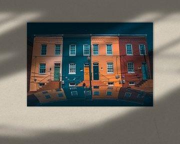 Reflectie in Georgetown Washington DC van Yannick Karnas