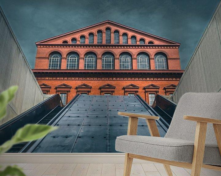 Sfeerimpressie behang: The building museum van Yannick Karnas