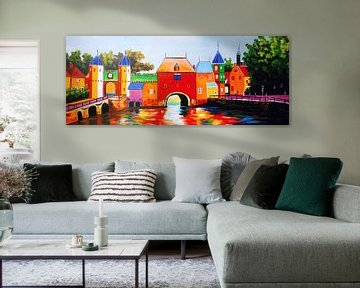 Schilderij Amersfoort Koppelpoort - Amersfoorts stadsgezicht van Kunst Company