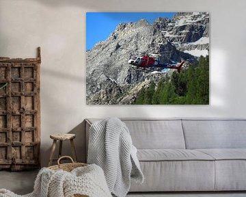 Helikopter In De Alpen van Daphne Photography