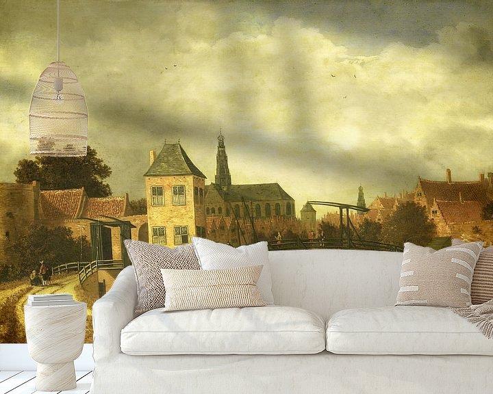 Beispiel fototapete: Blick auf Haarlem über dem Spaarne, Balthasar van der Veen