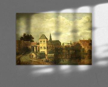 Blick auf Haarlem über dem Spaarne, Balthasar van der Veen