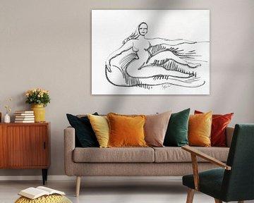 Femme sur le canapé sur ART Eva Maria