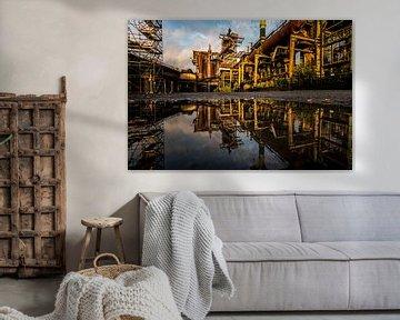 Hochofen Ruhrgebiet Deutschland, Duisburg, Industriefotografie von Damien Franscoise