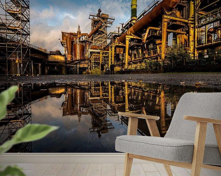Sfeerimpressie behang: Ruhrgebied Duitsland - Industrie fotografie -5 van Damien Franscoise