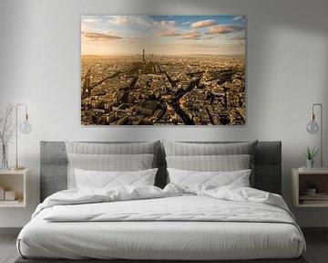 Zonsondergang Parijs - Uitzicht Tour Montparnasse - 4 von Damien Franscoise