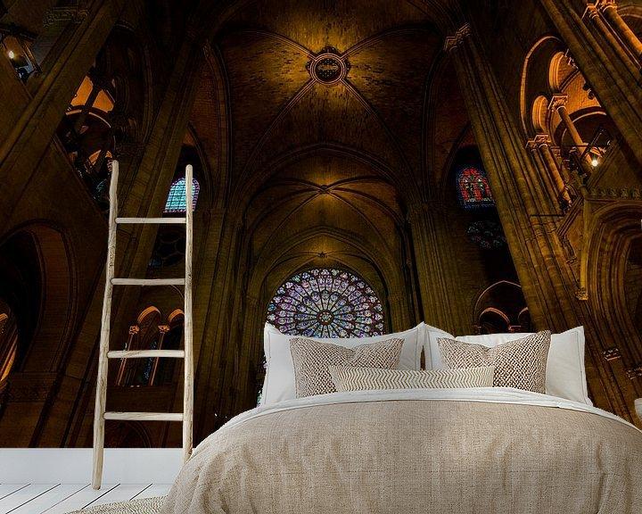 Sfeerimpressie behang: Notre-Dame Parijs - 2 van Damien Franscoise