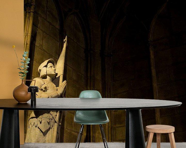 Sfeerimpressie behang: Notre-Dame Parijs - 3 van Damien Franscoise