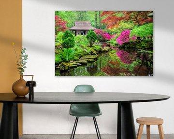 Japanse tuin in bloei von Dennis van de Water