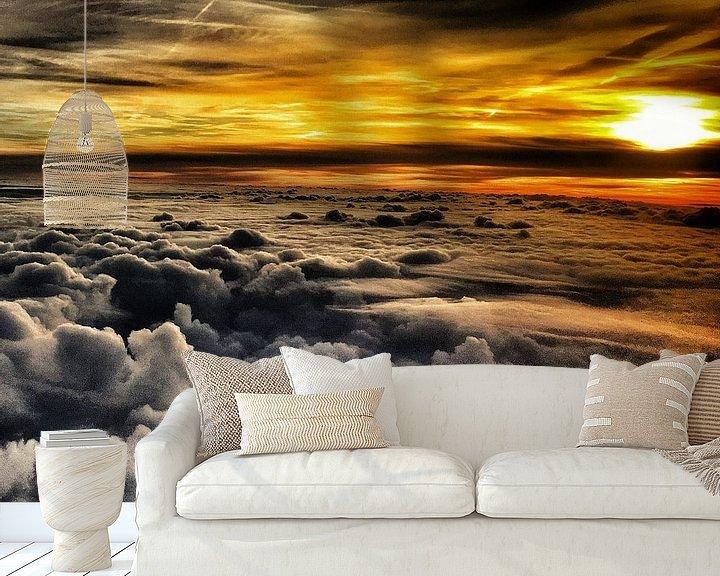 Sfeerimpressie behang: Boven de wolken van SPOOR Spoor