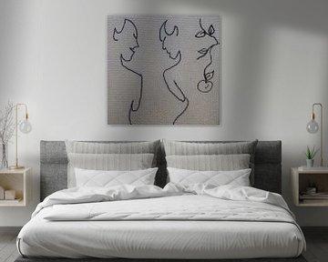 Mini canvas Adam en Eva