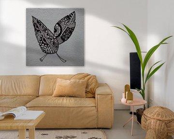 Mini-canvas veren Zentangle