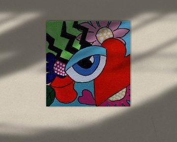 Mini-canvas Oog