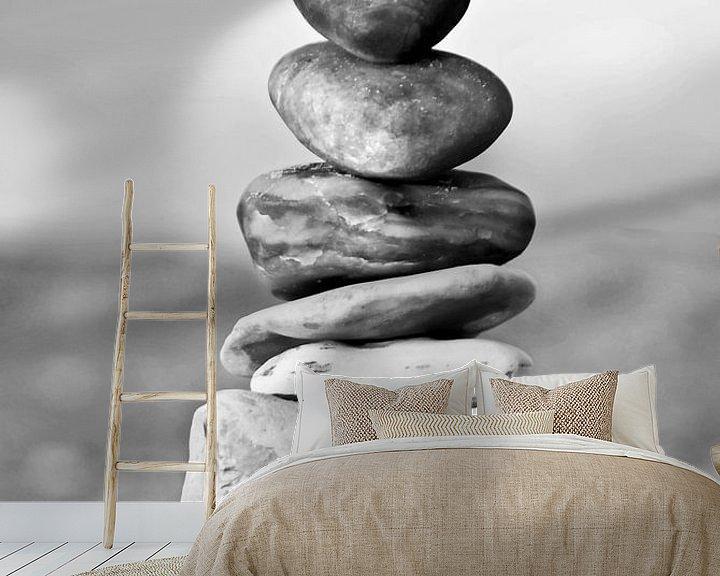 Sfeerimpressie behang: Balance van Kirsten Warner
