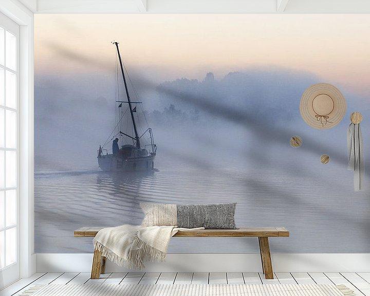 Sfeerimpressie behang: Ochtendgloren  van Bart van Dinten