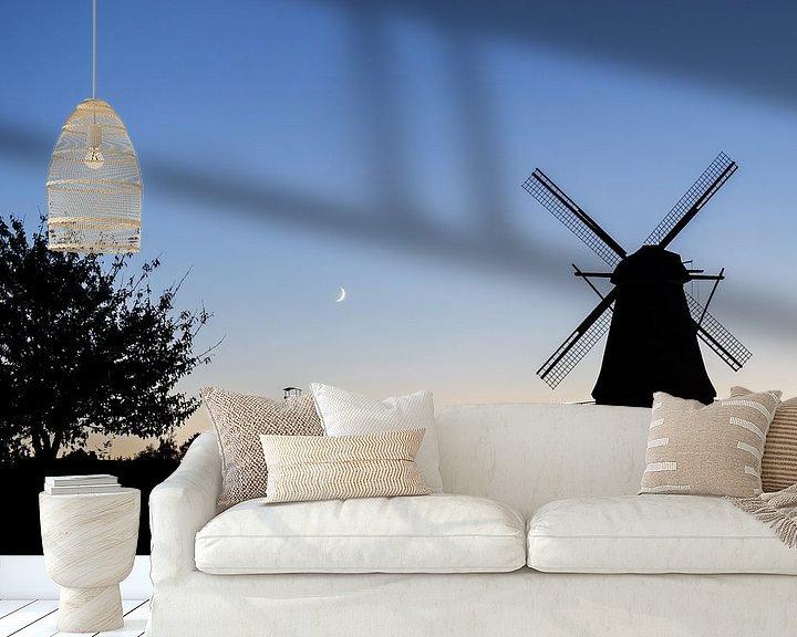 Beispiel fototapete: Mühlensilhouette von Patrice von Collani